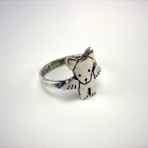 Angel Pibble Sterling Silver Ring