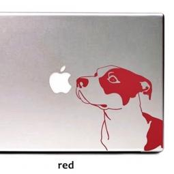 Red Pit Bull Large Decal