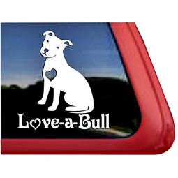 Love-a-Bull Sitting Large Decal